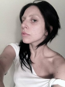 Lady Gaga's no make-up selfie